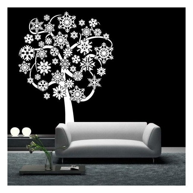 Tree snow snowflakes