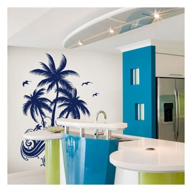 Vinyl decorative Palm trees