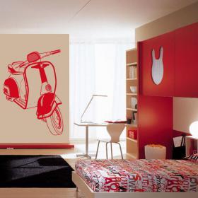 Decorative vinyl Moto Scooter