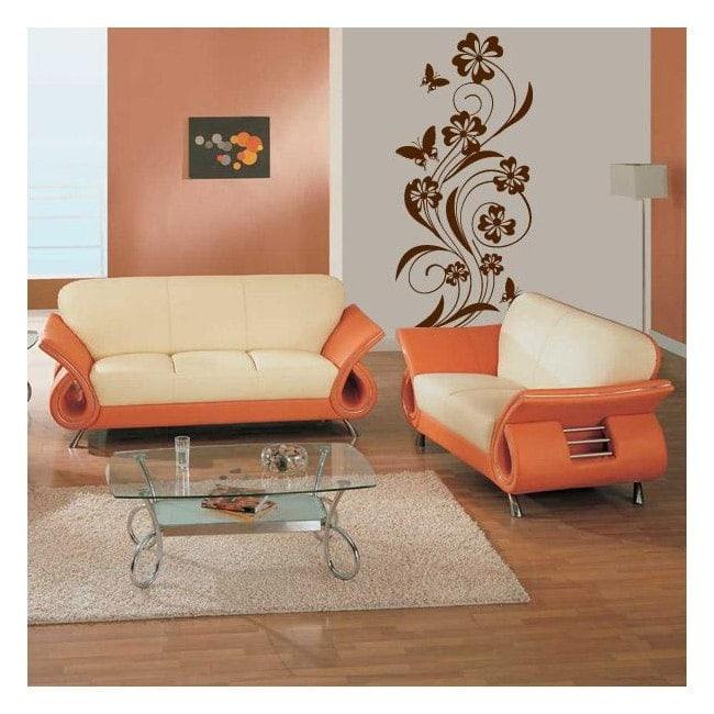 Decorative vinyl flowers and butterflies