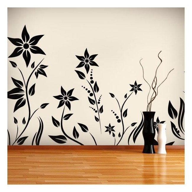 Decorative vinyl garden with flowers I