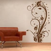 Decorative Vinyl Vertical flowers I