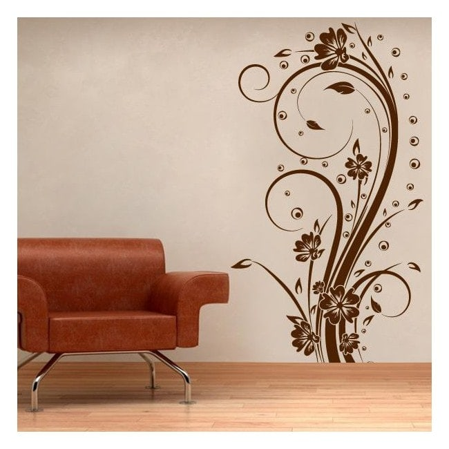 Decorative Vinyl Vertical flowers I