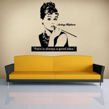 Decorative vinyl Audrey Hepburn