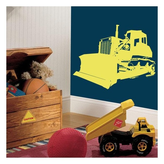 Decorative vinyl backhoe