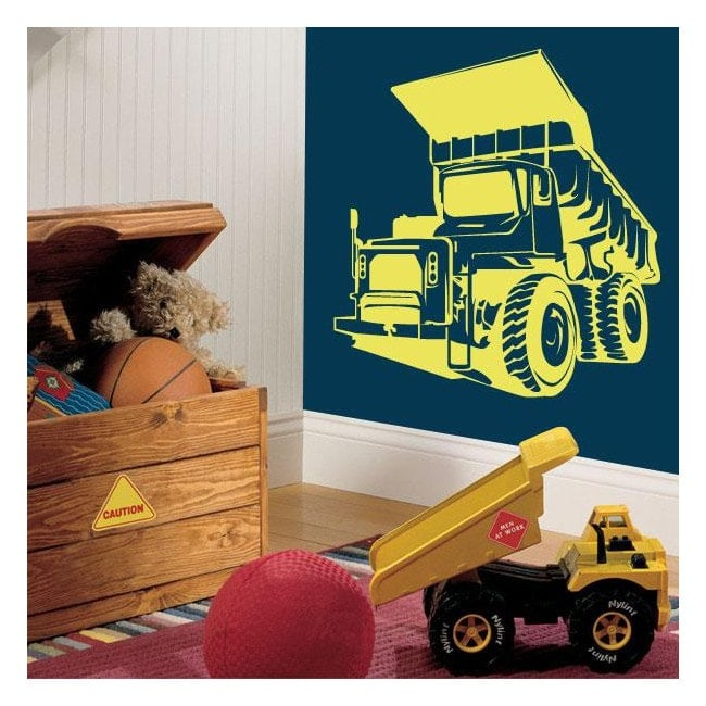 Decorative vinyl dump truck