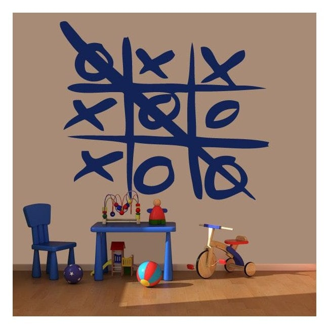 Decorative vinyl Tic-Tac-Toe