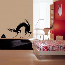 Decorative vinyl cat and mouse