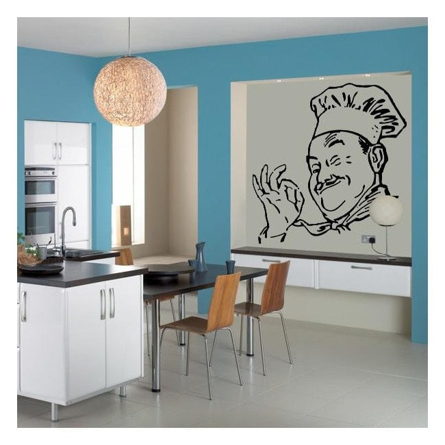 Decorative vinyl Chef