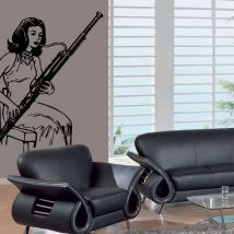 Decorative vinyl playing the bassoon