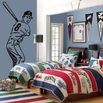 Baseball player decorative vinyl
