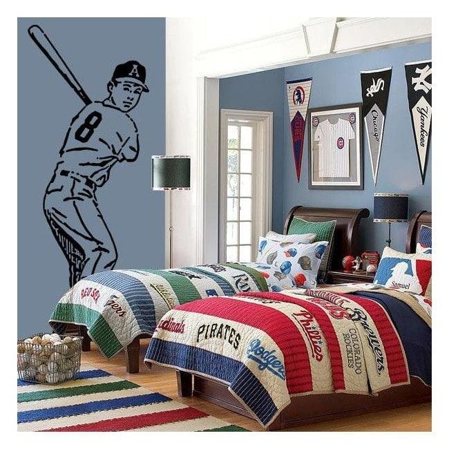 Baseball player decorative vinyl