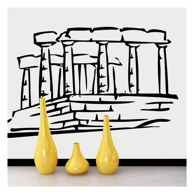 Decorative vinyl Parthenon