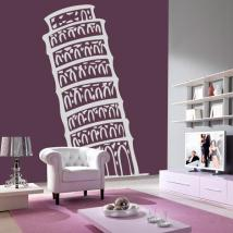 Vinyl decorative Tower of Pisa