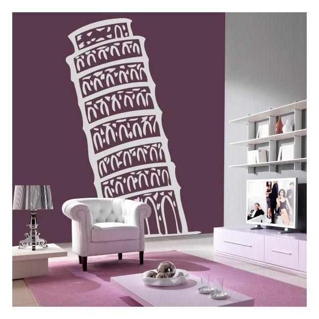 Vinyl decorative Tower of Pisa