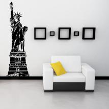 Vinyl decorative statue of liberty