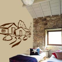 Decorative vinyl cottage English 231