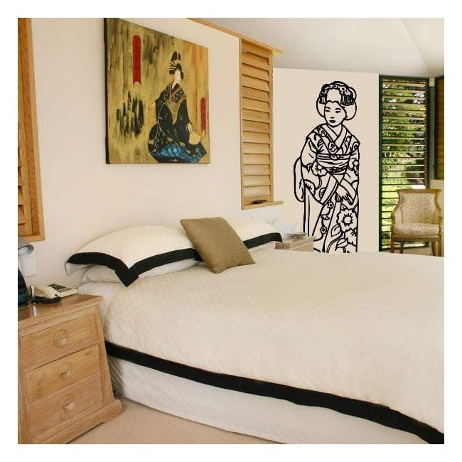 Decorative vinyl Geisha