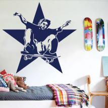Decorative vinyl skater and Star