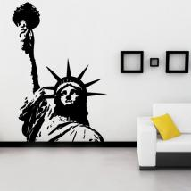 Vinyl decorative statue of liberty I