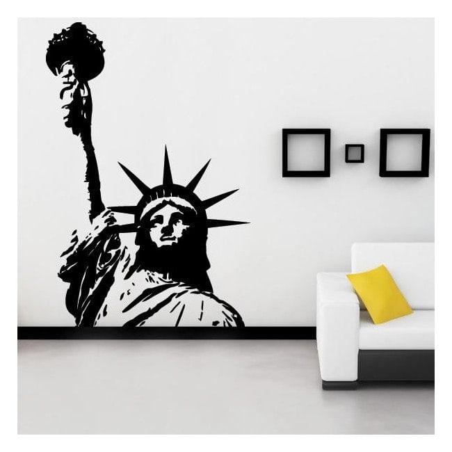 Vinyl decorative statue of liberty I