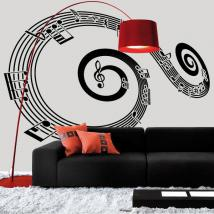 Decorative vinyl spiral staff