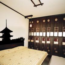 Decorative vinyl Japanese Pagoda