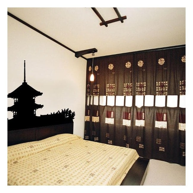Decorative vinyl Japanese Pagoda