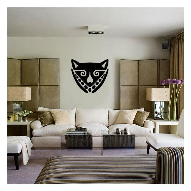 Decorative vinyl African mask