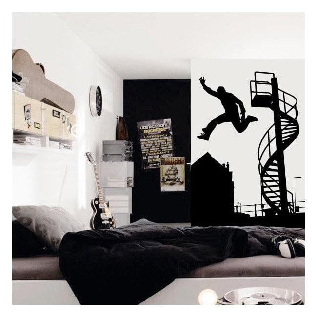 Decorative vinyl Parkour