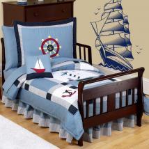 Decorative vinyl boat sail