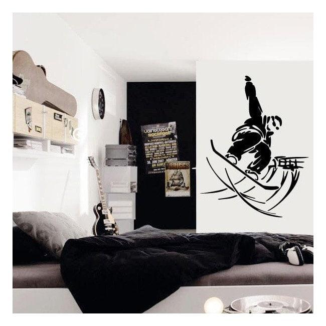 Decorative vinyl Snowboard