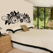 Vinyl decorative Floral headboard