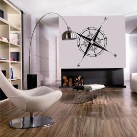 Decorative vinyl compass