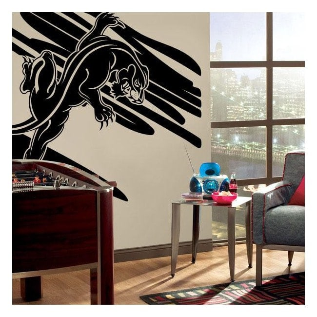 Decorative vinyl Panther