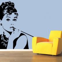 Vinyl decorative silhouette Audrey Hepburn