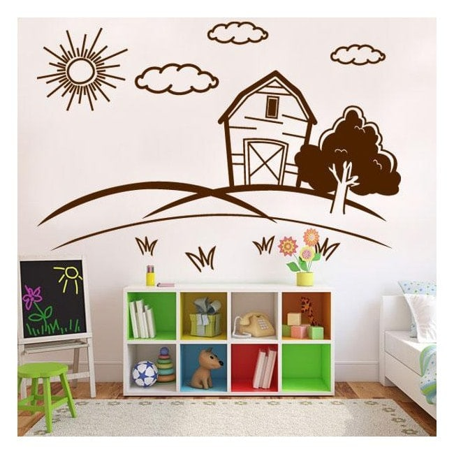Decorative vinyl child landscape