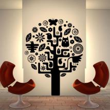 Aztec tree decorative vinyl