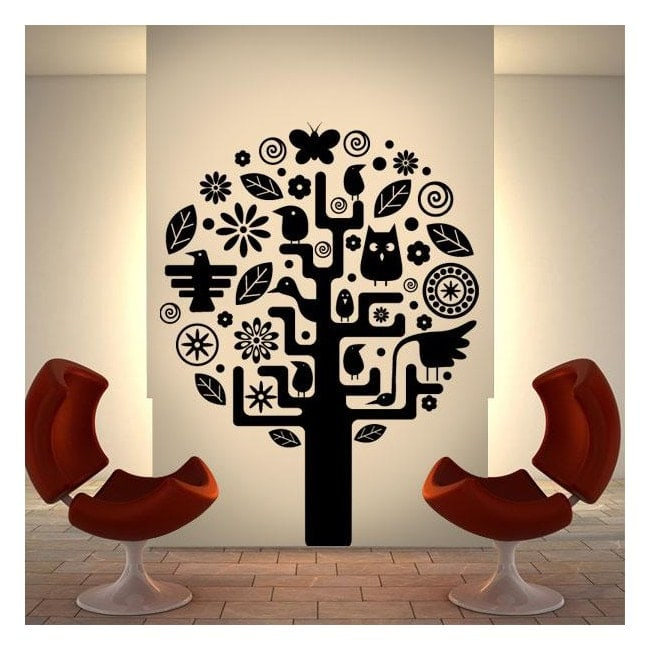 Aztec tree decorative vinyl