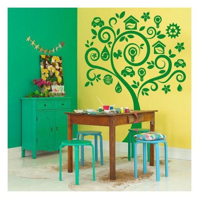 Stickers walls green tree
