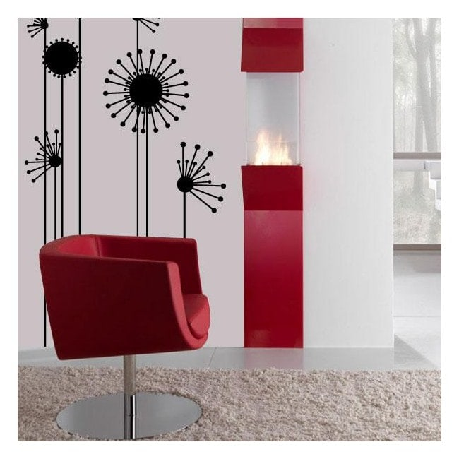 Minimalist flower wall stickers English 545