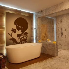 Feminine silhouette wall stickers