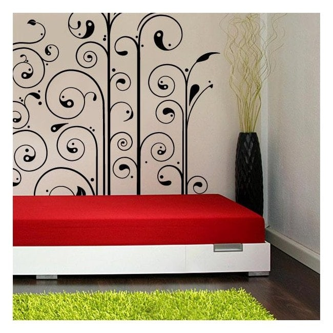 Flowers wall stickers Ying Yang