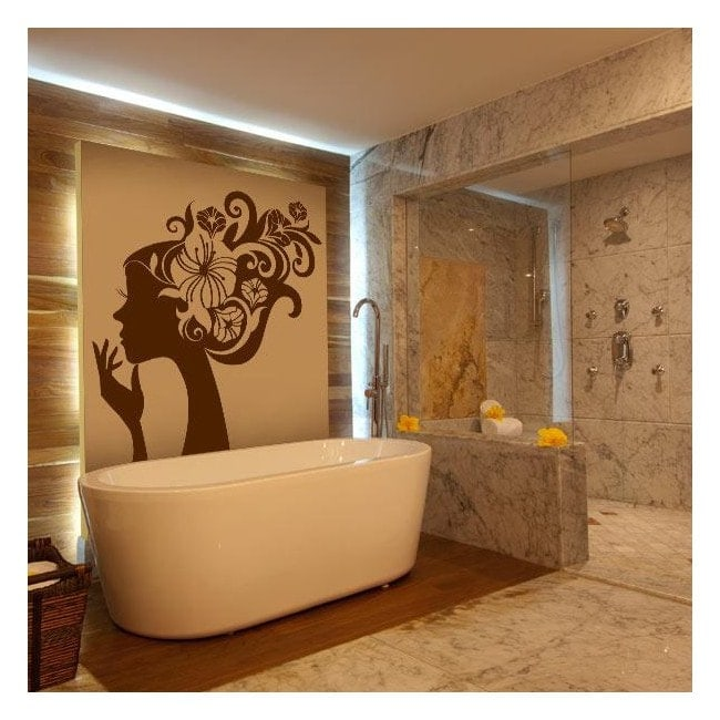 Female Floral wall stickers