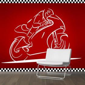 Decorative vinyl race bike
