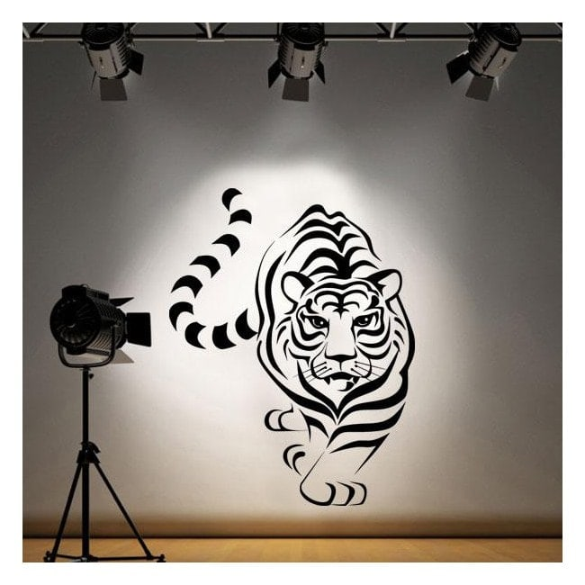 Decorative vinyl Tiger
