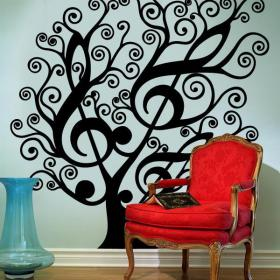 Decorative vinyl Musical tree