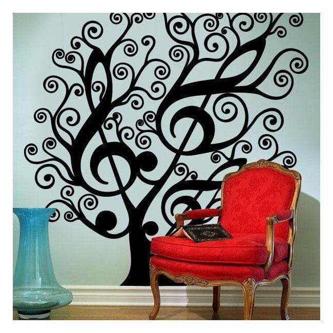 Decorative vinyl Musical tree