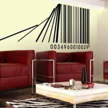 Decorative vinyl bar code