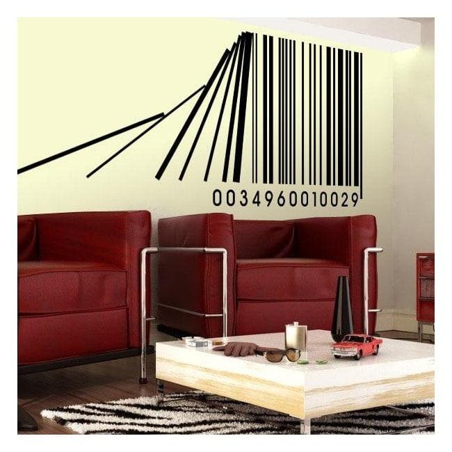 Decorative vinyl bar code